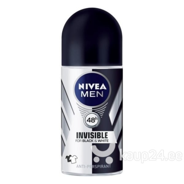 Meeste rulldeodorant Nivea Men Invisible Black & White 50 ml цена и информация | Deodorandid | kaup24.ee