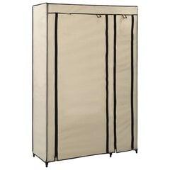 vidaXL kokkupandav riidekapp, kreemjasvalge, 110 x 45 x 175 cm, kangas hind ja info | Kapid | kaup24.ee