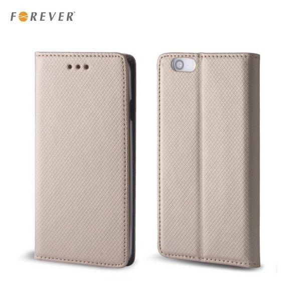 Kaitseümbris Forever Smart Magnetic Fix Book sobib Huawei P9, kuldne цена и информация | Mobiili ümbrised, kaaned | kaup24.ee