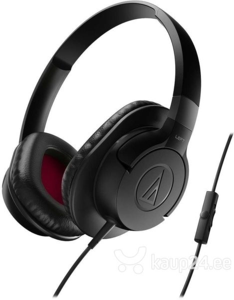 Kõrvaklapid Audio Technica ATH-AX1iSBK mikrofoniga, must цена и информация | Kõrvaklapid, mikrofonid | kaup24.ee