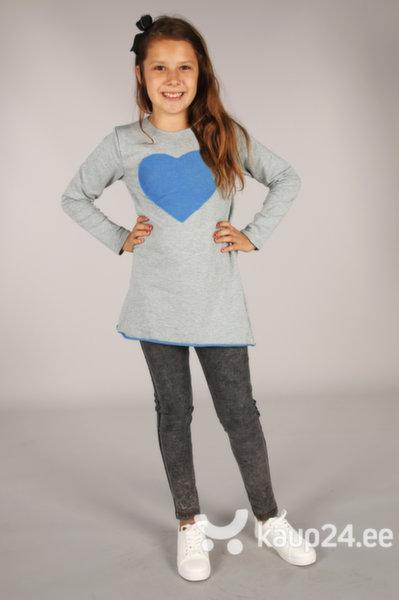 Tüdrukute tuunika Kropek, hall/sinine цена и информация | Tüdrukute riided | kaup24.ee