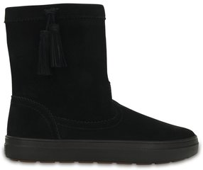 Naiste saapad Crocs™ Lodge Point Suede Pullon Boot, must