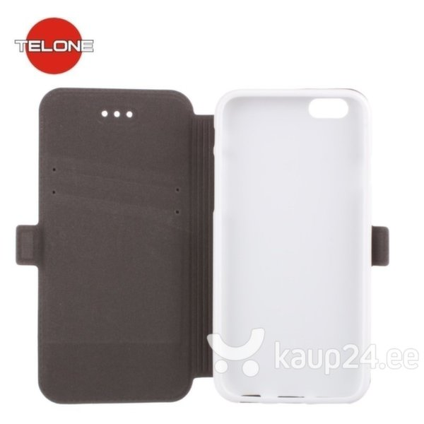 Kaitseümbris Telone Super Slim Shine Book sobib LG Zero, valge hind ja info | Mobiili ümbrised, kaaned | kaup24.ee