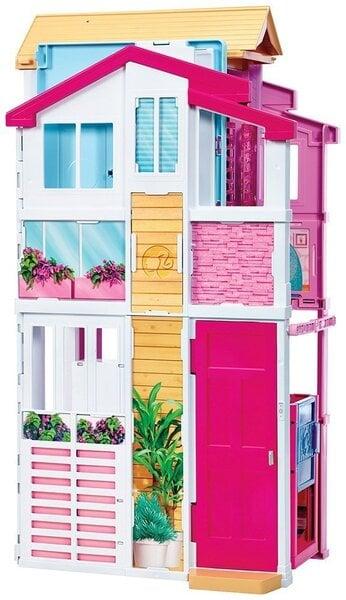 Nukumaja Barbie Malibu, 3 korrust, DLY32 цена и информация | Tüdrukute mänguasjad | kaup24.ee