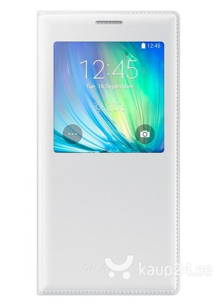 Kaitseümbris View cover sobib Samsung Galaxy A7 (A700), valge