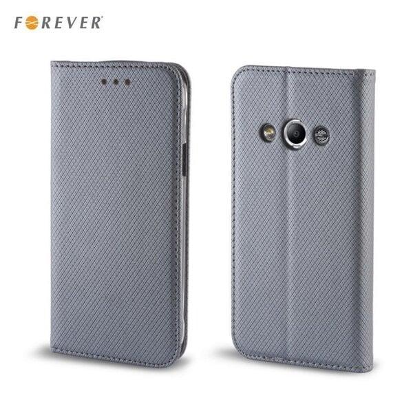 Kaitseümbris Forever Smart Magnetic Fix Book LG H340N Leon, hall цена и информация | Mobiili ümbrised, kaaned | kaup24.ee