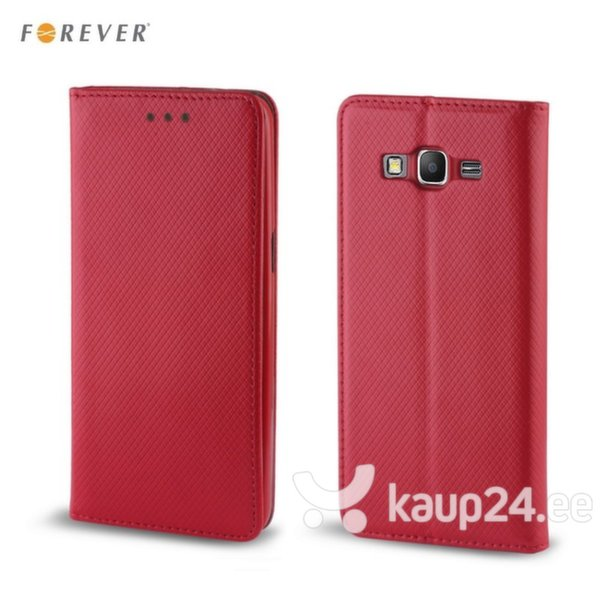 Kaitseümbris Forever Smart Magnetic Fix Book Samsung Galaxy J1 (J120F), punane цена и информация | Mobiili ümbrised, kaaned | kaup24.ee