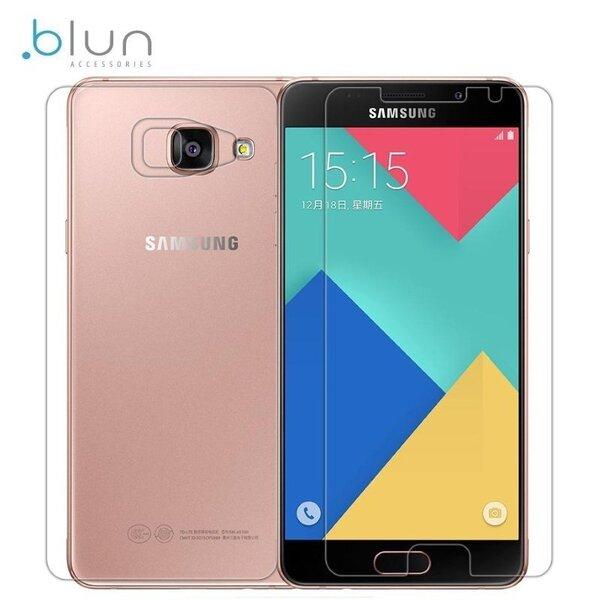 Ekraanikaitseklaas Blun Samsung Galaxy A5 (A510F) + tagumine klaas цена и информация | Ekraani kaitsekiled | kaup24.ee