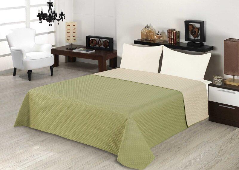 Kahepoolne voodikate 200x220 cm, roheline I цена и информация | Voodikatted, pleedid | kaup24.ee