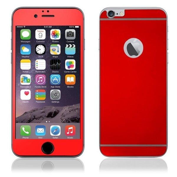 Ekraani kaitsekile KLT Extreeme Shock sobib Apple iPhone 6/6S, mõlemale poolele, punane цена и информация | Ekraani kaitsekiled | kaup24.ee