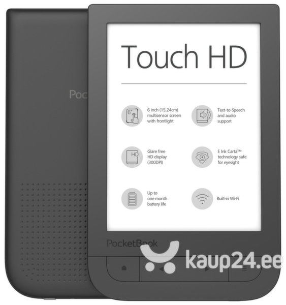 E-luger PocketBook Touch HD, must цена и информация | E-lugerid | kaup24.ee
