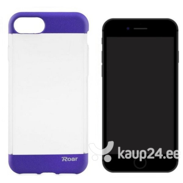 Kaitseümbris Roar Fit Up Jelly sobib Apple iPhone 7, läbipaistev/lilla цена и информация | Mobiili ümbrised, kaaned | kaup24.ee