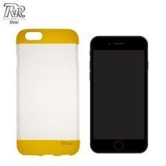 Kaitseümbris Roar Fit Up Jelly sobib Apple iPhone 7, läbipaistev/kollane
