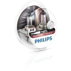 лампочки (2 шт.) Philips H4 12V/60/55W +60% Vision Plus