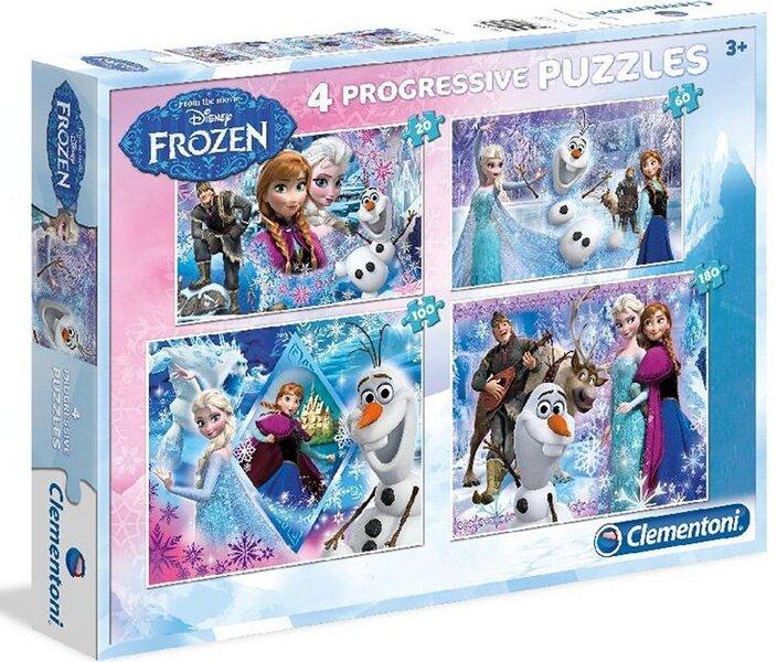 Pusle Clementoni Frozen 20+60+100+180 tk цена и информация | Puzzle, mõistatused | kaup24.ee