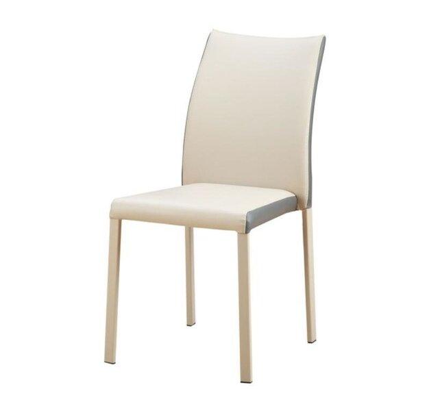 4-osaline toolide komplekt K182, kreem/hall цена и информация | Köögitoolid | kaup24.ee