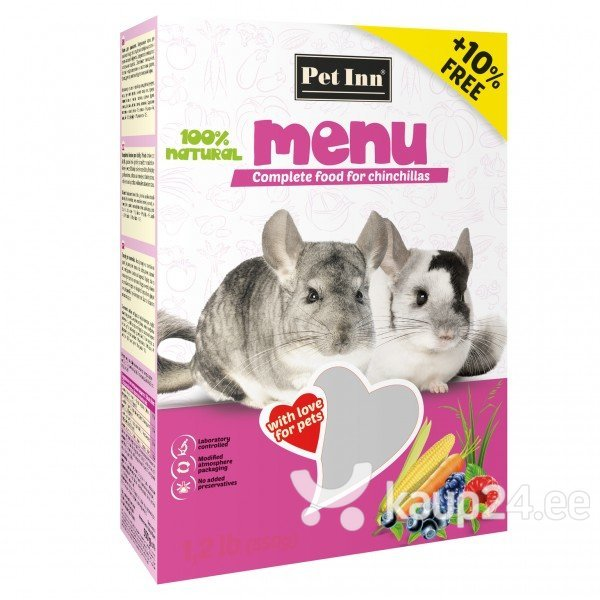 Корм для шиншил  Pet Inn Menu  500г + 50г