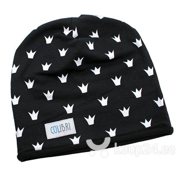 Laste müts Colibri, must/valge I цена и информация | Laste talveriided | kaup24.ee