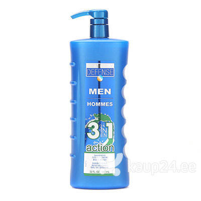 Meeste šampoon Daily Defense Mens 3 in 1 Action 946 ml цена и информация | Šampoonid | kaup24.ee