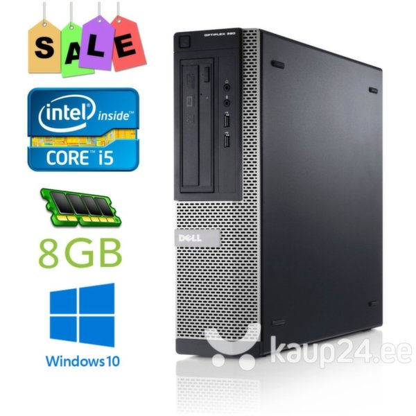 Arvuti DELL Optiplex 390 i5-2400/8gb/500gb/GT 730 2GB/DVDRW/Win 10 Pro цена и информация | Lauaarvutid | kaup24.ee