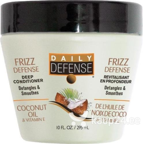 Toitev juuksemask kookosõliga Daily Defense 3 Minute 295 ml цена и информация | Maskid, õlid, seerumid | kaup24.ee