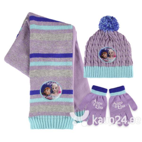 Tüdrukute müts, sall ja kindad Cerda Frozen цена и информация | Laste aksessuaarid | kaup24.ee