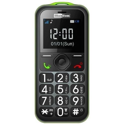 Mobiiltelefon Maxcom MM560BB, must/roheline цена и информация | Mobiiltelefonid | kaup24.ee