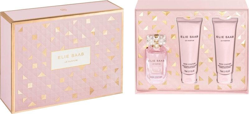 Komplekt Elie Saab Rose Couture: EDT naistele 50 ml + ihupiim 2 x 75 ml цена и информация | Naiste lõhnad | kaup24.ee