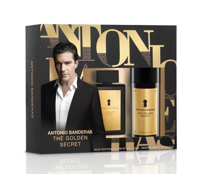 Komplekt Antonio Banderas The Golden Secret: EDT meestele 100 ml + deodorant 150 ml hind ja info | Meeste lõhnad | kaup24.ee