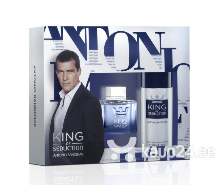Komplekt Antonio Banderas King Of Seduction: EDT meestele 100 ml + deodorant 150 ml hind ja info | Meeste lõhnad | kaup24.ee