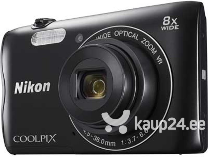 Nikon Coolpix A300, must цена и информация | Fotoaparaadid | kaup24.ee