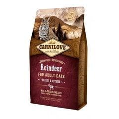 Carni Love kuivtoit aktiivsetele õuekassidele hirve- ja metssealihaga, 6 kg hind ja info | Carni Love kuivtoit aktiivsetele õuekassidele hirve- ja metssealihaga, 6 kg | kaup24.ee