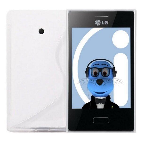 Kaitseümbris Telone sobib LG Swift L3 (E400), valge