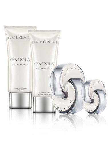 Komplekt Bvlgari Omnia Crystalline naistele: EDT 65 ml + EDT 15 ml + ihupiim 100 ml + dušigeel 100 ml hind ja info | Naiste lõhnad | kaup24.ee
