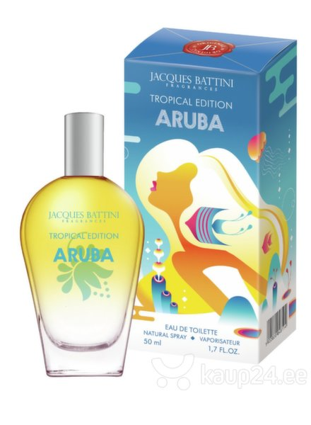 Tualettvesi Jacques Battini Tropical Edition Aruba EDT naistele 50 ml цена и информация | Naiste lõhnad | kaup24.ee