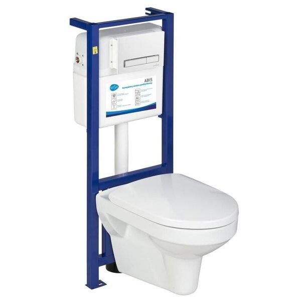 WC komplekt Senseo Abis: WC süvistatav loputuskastiraam + WC pott+ loputuskastinupp hind ja info | WС-potid | kaup24.ee
