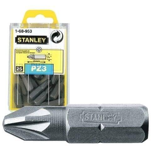 Kruvikeeraja ots ristpeaga Stanley PZ3 25mm (25tk.) 1-68-953 цена и информация | Käsitööriistad | kaup24.ee