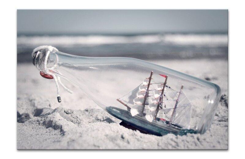 Репродукция Корабль в бутылке цена и информация | Seinapildid | kaup24.ee