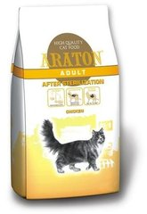 Сухой корм для кошек ARATON adult after sterilization chiken 15 kg