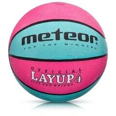 Korvpallipall Meteor LAYUP #4 roosa/sinine hind ja info | Korvpallid | kaup24.ee