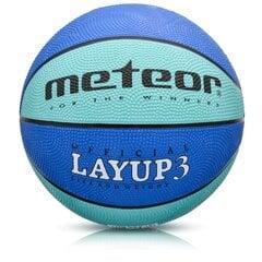 Korvpallipall Meteor Layup 3 sinine hind ja info | Korvpallid | kaup24.ee