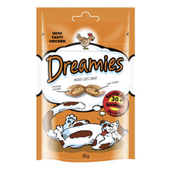 Dreamies лакомство для кошек с курицей 60 г х 6