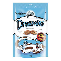 Dreamies лакомство для кошек с лососем 60 г x 6