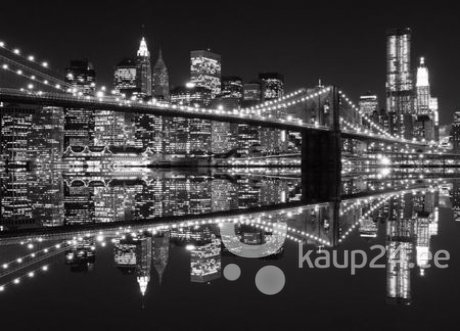 Фотообои New York (Brooklyn Bridge BW) 183x254 см