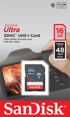 Mälukaart SANDISK 16GB Ultra SDHC 48MB/s Class 10 UHS-I