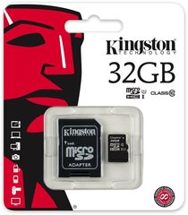 Mälukaart Kingston micro SD 32GB Class 10 U1 +adapter hind ja info | Mälukaart Kingston micro SD 32GB Class 10 U1 +adapter | kaup24.ee