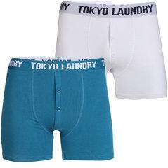 Meeste bokserid Tokyo Laundry 2 tk, sinine/valge