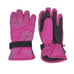 Tüdrukute kindad Five Seasons Snow, roosa/must hind ja info | Laste aksessuaarid | kaup24.ee