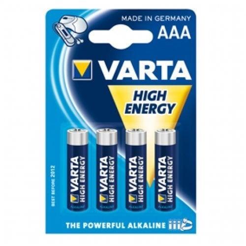 Varta High Energy AAA patareid, 4 tk hind ja info | Patareid | kaup24.ee