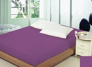 Mikrokiust voodilina 200x220 cm, violetne